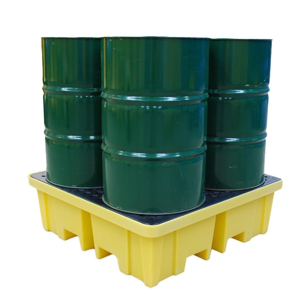 Spill Pallet with 4 way FLT access for 4 x 205ltr drums – BCBP4FW