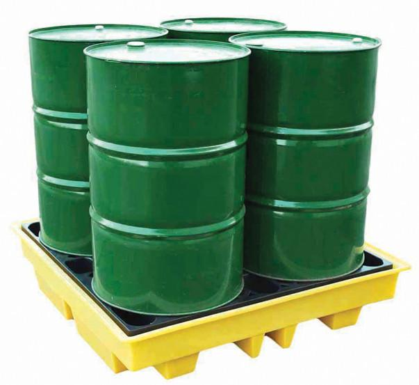Low Profile Spill Pallet for 4 x 205 ltr drums – BCBP4L