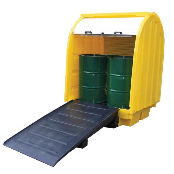 Hard Covered Spill Pallet for 4 x 205 ltr drums – BCBP4HC